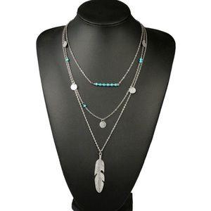 🌞SUMMER SALE🌞 Silver multilayer boho necklace